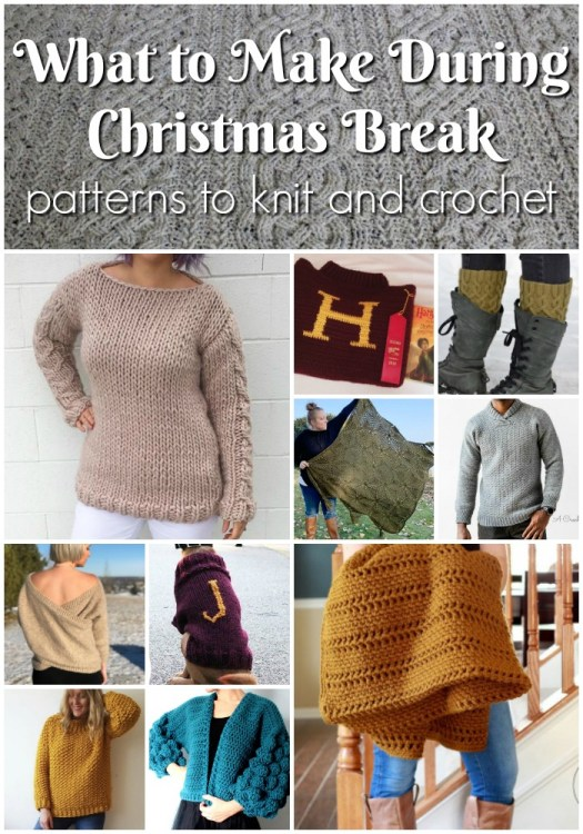 A round up of 16 great patterns to get you knitting and crocheting for yourself this Christmas break. Enjoy the winter cozied up under some yarn and make yourself something beautiful this season! #crochet #knitting #patterns #craftevangelist
