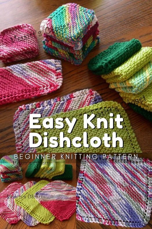 Beginner knitting pattern for this easy knit dishcloth. Learn to knit with this easy knit dishcloth pattern. #knitting #beginnerknittingpattern #easyknittingpattern #knitting #pattern #craftevangelist