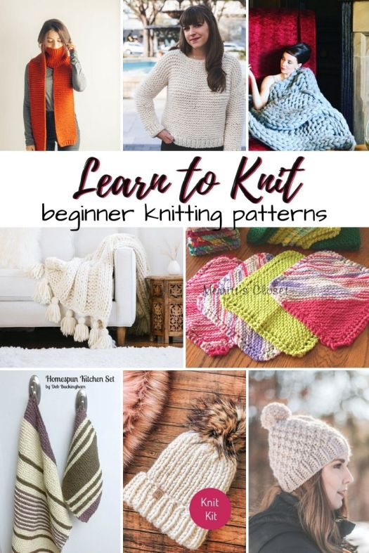 What a great collection of knitting pattern to learn to knit! There are even some beginner knitting kits included in this round up! Perfect gift ideas for new knitters! #knitting #patterns #knitkits #beginnerknits #beginnerknittingpatterns #learntoknit #craftevangelist