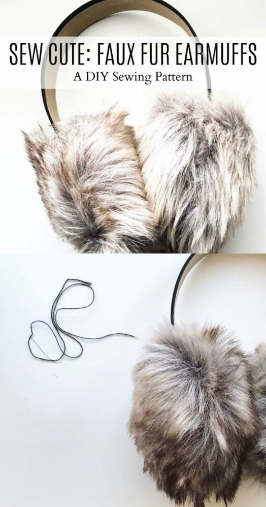 Faux Fur Earmuffs sewing pattern. DIY your own ear muffs with this beginner level sewing pattern. #sewingpattern #pdfsewinpattern #earmuffspattern #diyearmuffs #crafts