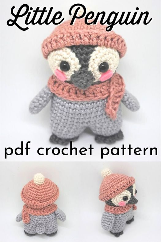 Sweet little amigurumi penguin crochet pattern! Keychain sized little toy to make for your keychain or a little toy for a loved one. Small amigurumi make lovely last minute handmade gift ideas! Great pattern! #crochetpattern #amigurumipattern #crochetkeychain #crochetpenguin #patternroundup #craftevangelist
