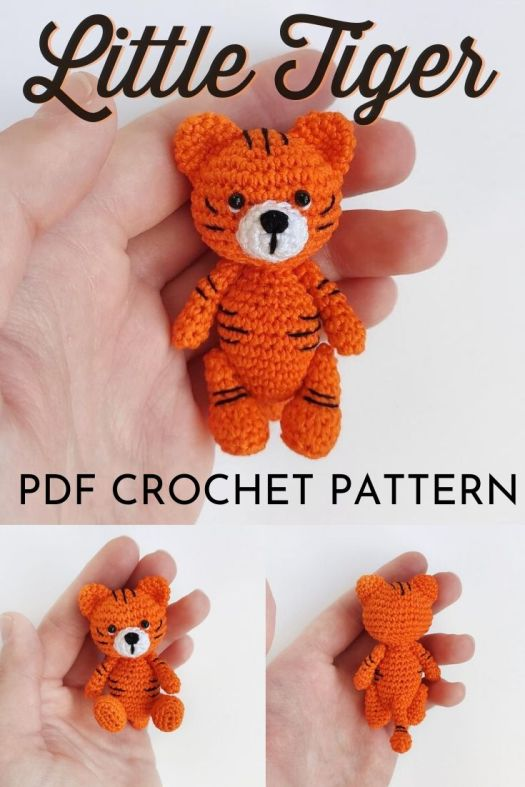 Thomas the Tiger Free Amigurumi Pattern | Jess Huff | 787x525