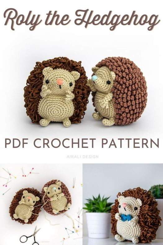 Super cute amigurumi crochet pattern for this adorable little hedgehog! I love the two spine options for this pattern! So cute! Now I need an amigurumi hedgehog! #crochetpattern #amigurumipattern #crochettoys #craftevangelist #patternroundup