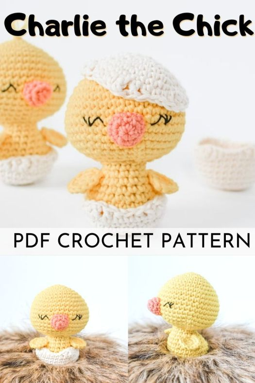Cute and adorable chick amigurmi crochet pattern! Love this sweet little pattern, perfect little Easter basket filler! #crochetpattern #amigurumipattern #amigurumitoy #eastertoys #handmadeeaster #chickpattern #crochettoys #crocheteaster #craftevangelist