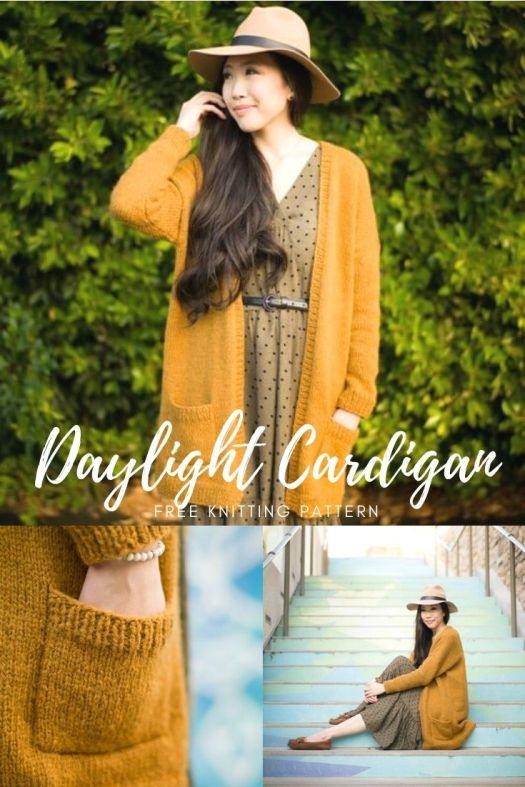 I love this simple and stylish Daylight Cardigan pattern from All About Ami. Check out this free pattern and others in my pattern round up of free resources to de-stress with during social isolation! #freeknittingpattern #freecardiganpattern #knitting #allaboutami #patternroundup #craftevangelist
