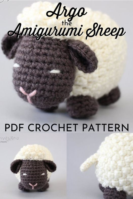 Argo the Amigurumi Sheep crochet pattern for this adorable little lamb! Love his bobbly pattern and cute little tail! My kids would love this! #crochet #pattern #amigurumi #amigurumipattern #yarn #crochetpattern #crafts #diytoys #handmadestuffies #handmade #craftevangelist