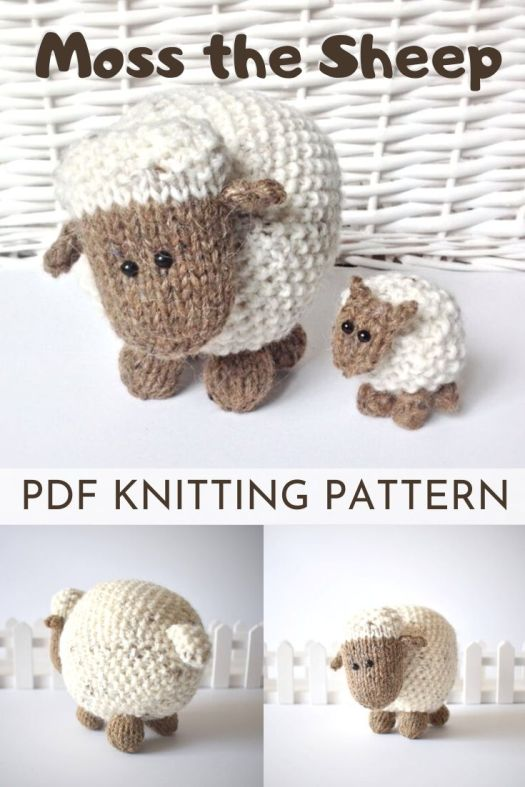 KNITTED amigurumi sheep pattern! It's so hard to find good knitted toy patterns! Love this adorable little sheep. The seed stitch is such a clever idea! #amigurumipattern #knittingpattern #knitsheep #knittoypattern #craftevangelist
