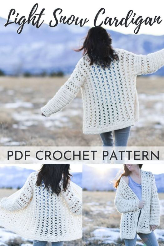 Gorgeous and cozy oversized crochet cardigan pattern! I love the open stitch work in this easy crochet sweater pattern! Can't wait to make this lovely garment for spring! #crochetpattern #crochetcardigan #crochetsweater #craftevangelist