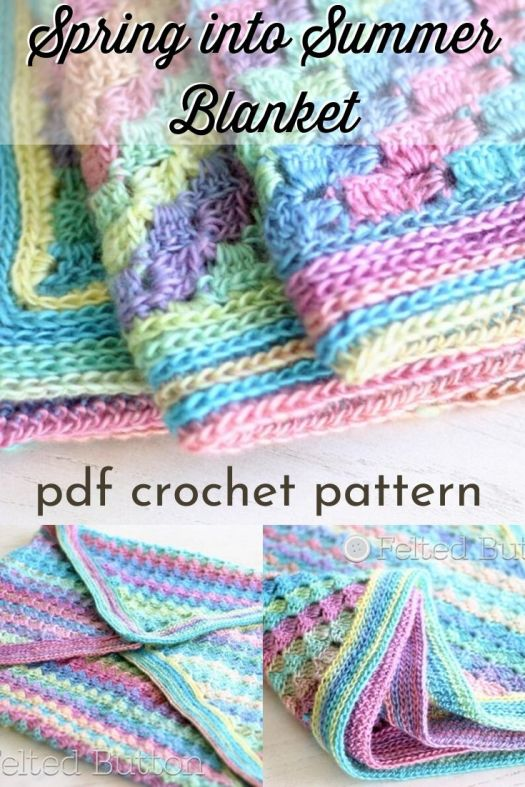 Fun corner to corner crochet pattern for this spring into summer baby blanket. Lovely afghan pattern made in bright spring colours makes a perfect handmade gift idea for baby! #crochetpattern #c2c #cornertocornercrochet #blanketpattern #crochetafghanpattern #craftevangelist