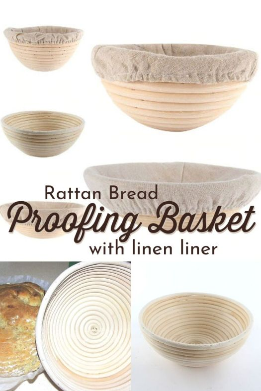 Lovely bread proofing basket for proofing sourdough bread! Comes in 3 sizes, each with a linen liner. This is how to get that classic pattern of floury rings in your sourdough! Want one!!! #sourdoughbread #sourdoughproofingbasket #proofingbasket #sourdoughsupplies #howtomakesourdough #linenbreadliner #craftevangelist