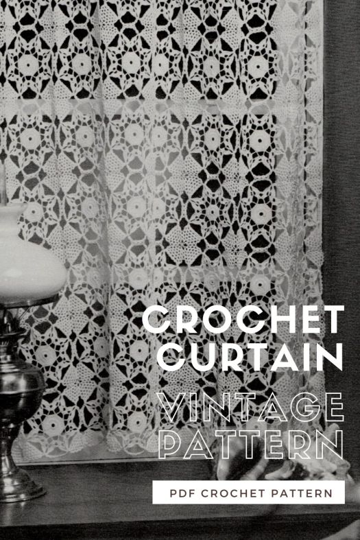 Pretty and delicate lace curtain motif crochet pattern for a vintage vibe! Love this sweet 1970s crochet pattern! #crochetpattern #vintagecrochet #crochetcurtains #craftevangelist
