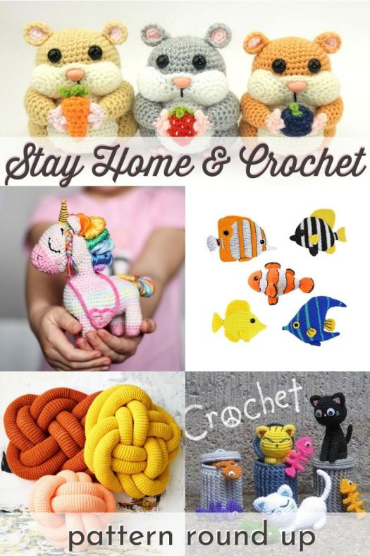 Wonderful collection of crochet patterns to make while sheltering in place. Stay home and crochet these adorable amigurumi patterns! #crochetpatterns #amigurumipatterns #stayhomeandcrochet #craftevangelist