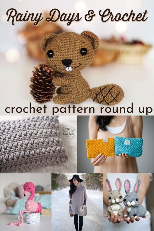 Super cute round up of crochet patterns! Love this sweet beaver amigurumi! Can't wait to check out some of these adorable crochet patterns! #crochetpattern #patternroundup #yarn #crafts #craftevangelist