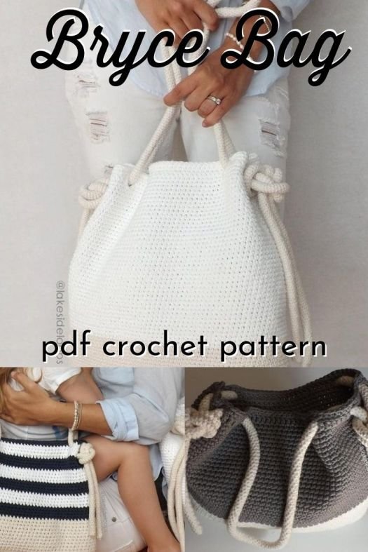An easy crochet pattern for the perfect summer purse or beach bag. Comes in 2 sizes for cute mother-daughter matching bags! #crochetpattern #crochethandbag #crochetpurse #crafts #yarn #craftevanglist