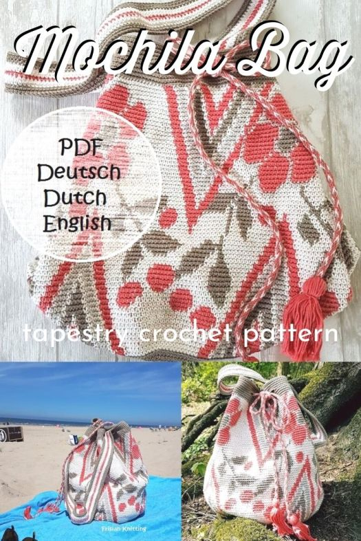 Gorgeous tapestry crochet handbag pattern! I love this beautiful bag, perfect big bag to take to the beach and soooo pretty! #crochetpattern #crochethandbag #crochetbeachbag #craftevangelist
