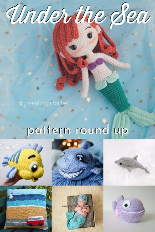 Super cute sea creature crochet and knitting patterns to make! Love this round up of great under the sea inspired patterns! #knitting #crochet #amigurumi #crochetpatterns #knittingpatterns #stuffedtoys #diytoys #craftevangelist