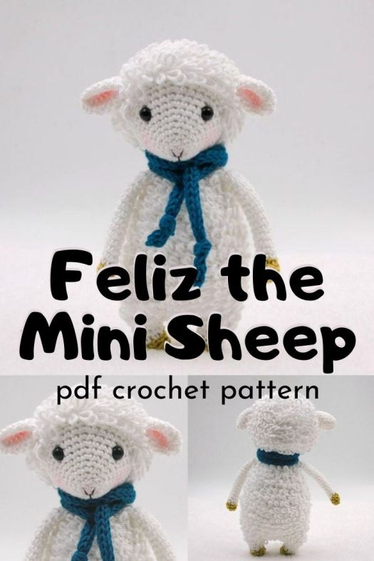 Cute little mini sheep amigurumi crochet pattern. Can't wait to make one of these adorable little dolls! Perfect little sad sheep crochet pattern to make for a new little baby. #crochetpattern #amigurumipattern #amigurumisheep #miniamigurumi #tinyamigurumi #yarn #crafts #craftevangelist