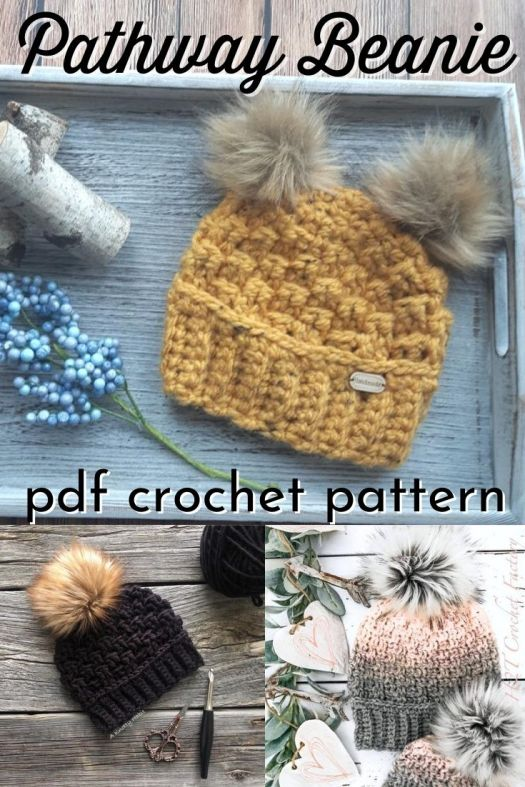 Lovely textured crochet beanie pattern! This gorgeous bulky yarn hat comes in sizes 0-3 months all the way to XL adult! Beautiful crocheted toque pattern! #crochetpattern #crochethatpattern #crochetbeaniepattern #crochettoquepattern #beaniepattern #hatpattern #diytoque #crafts #yarn #LeesasKnottyCorner #craftevangelist