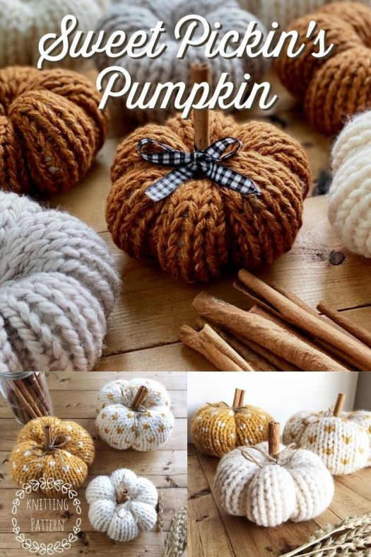 Adorable knitting pattern for these cute amigurumi pumpkins! They make the perfect fall decor and are easy to make with a simple chart for the heart pattern on the pattern pumpkins. Make them in different sizes and add your own toppers for a unique flair! #knittingpattern #amigurumipattern #knitpumpkinpattern #pumpkinpattern #diypumpkins #diyfalldecor #falldecor #fallpumpkins #knitpumpkinpattern #yarn #crafts #LambandCoDesigns #craftevangelist