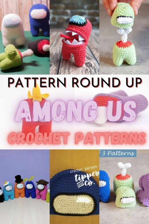 Check out this fun round up of Among Us inspired crochet patterns. Kids are loving this video game right now; these will make awesome quick handmade crocheted gifts this Christmas! #crochetpattern #crochettoys #AmongUs #amigurumi #amigurumipatterns