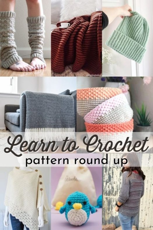 Learn to crochet with one of these great beginner crochet patterns! This is the perfect time to learn a new craft! #crochet #crochetpatterns #learntocrochet #beginnercrochetpatterns #craftevangelist