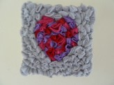 3D fleece heart