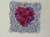3D fleece heart