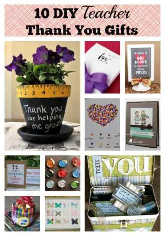 10 DIY teacher thank you gifts