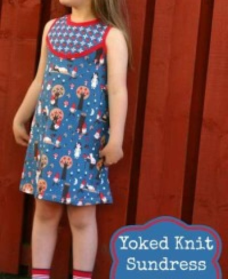 Yoked knit sundress modelled