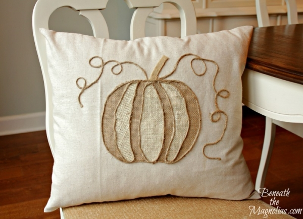 PumpkinAppliquePillow