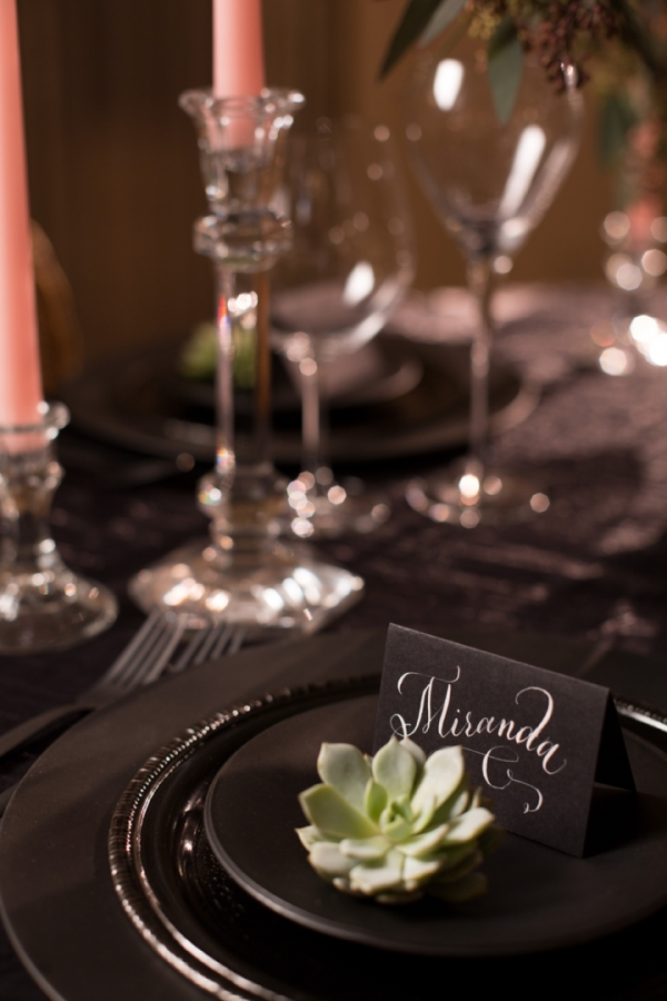 Bold Dramatic Blush and Black Wedding Ideas - Every Last Detail