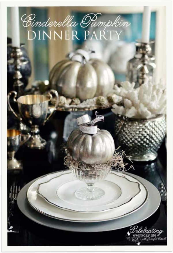 A Cinderella Inspired Elegant Halloween Dinner Party - Celebrating Everyday Life