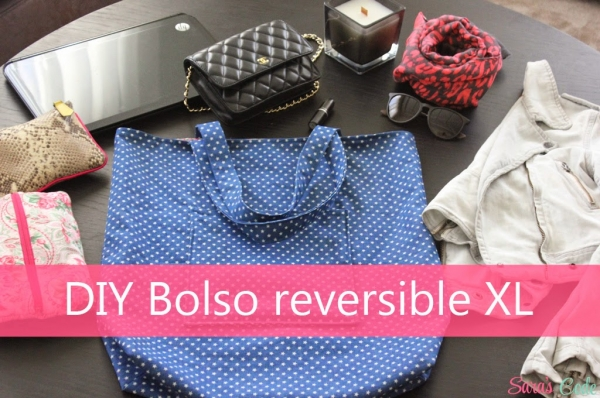 DIY Reversible Tote Bag with pockets