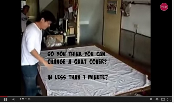 How to really change the quilt cover. Fast!