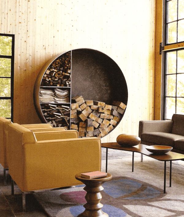 7 indoor firewood storage solutions craft gossip - Holzaufbewahrung wohnzimmer ...