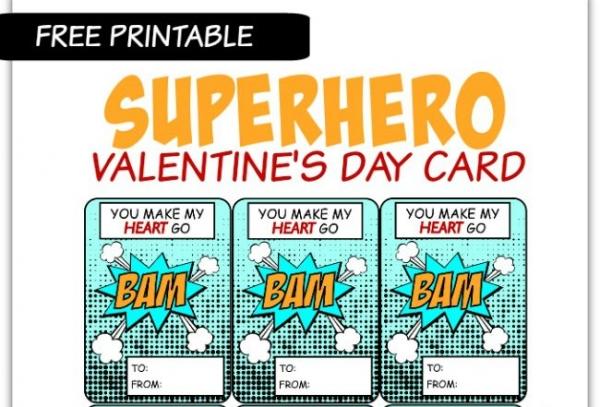 Free Printable: SuperHero Valentine – Craft Gossip
