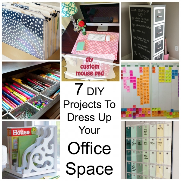 7 diy projects to dress up your office space craft gossip for Office diy projects