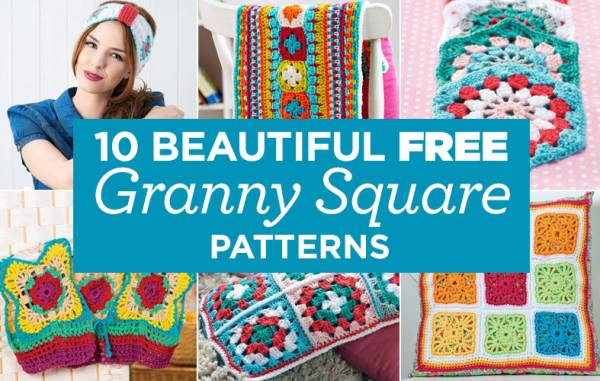 10 Beautiful FREE Granny Square Patterns