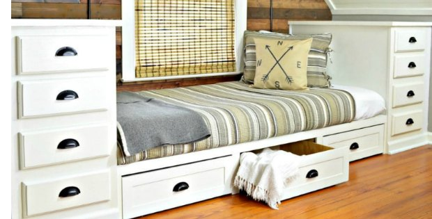 DIY Bed - Make A Built In Bed With Side Units