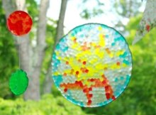 Can't believe how easy and fun these melted bead suncatchers are to make. The kids love it, I love it, we all love making these suncatchers, and who would have thought you just had to arrange and then melt the beads to make them so beautiful!