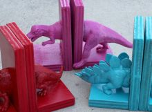 Dinosaur bookend kids craft ideas