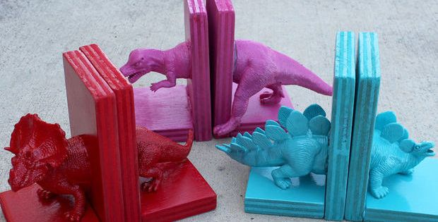 Childrens Bookends Dinosaur DIY Bookends