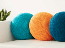 Crochet full round pillow free pattern