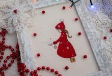 Zimowe wyszywanie Elle & The Snow Dove by Belle & Boo