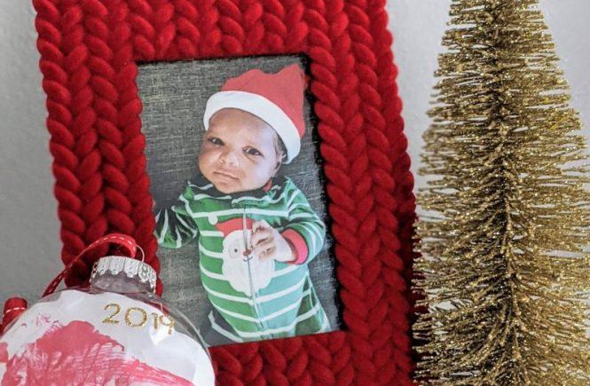 DIY Christmas Footprint Ornament
