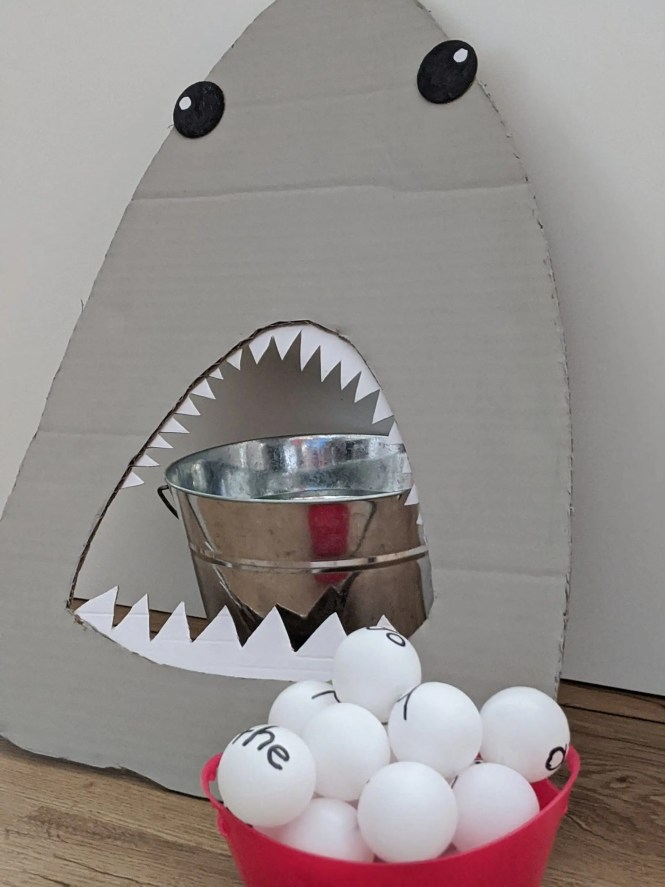 Feed the shark sight words game for kids