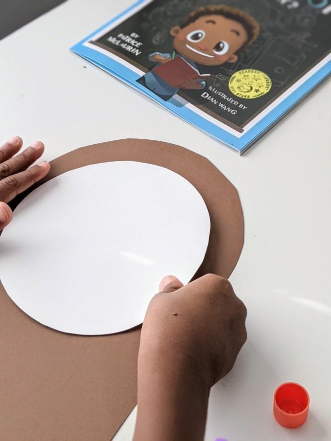 paper clock craft inspired by Benjamin Banneker