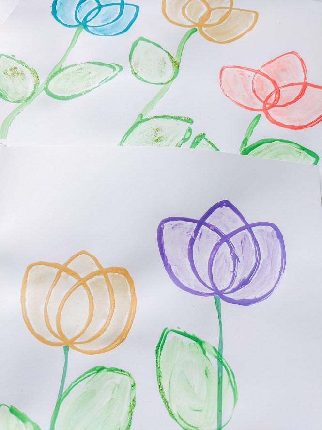 beautiful tulip stamp art