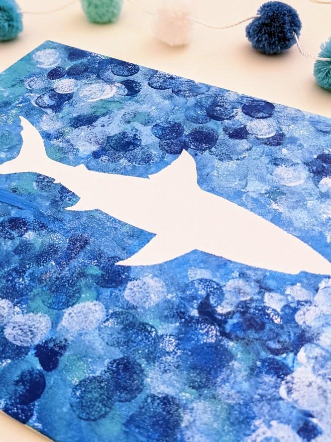 shark painting for kids