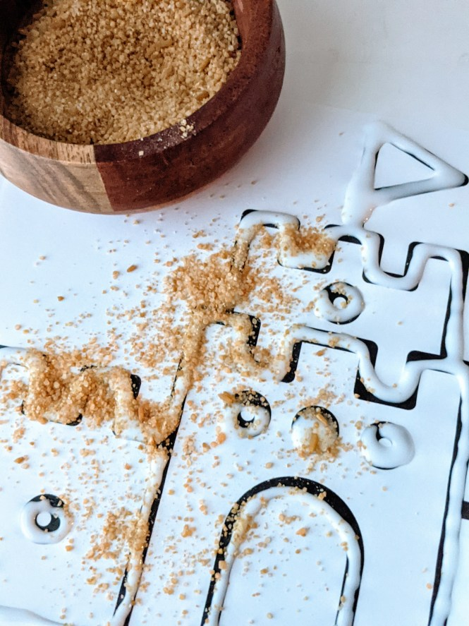 sandcastle sand art project for kids